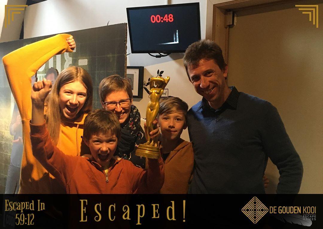 familie gezin escape room bij De Gouden Kooi