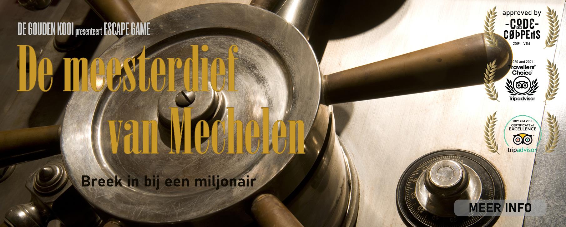 Escape game De Gouden Kooi - De meesterdief van Mechelen