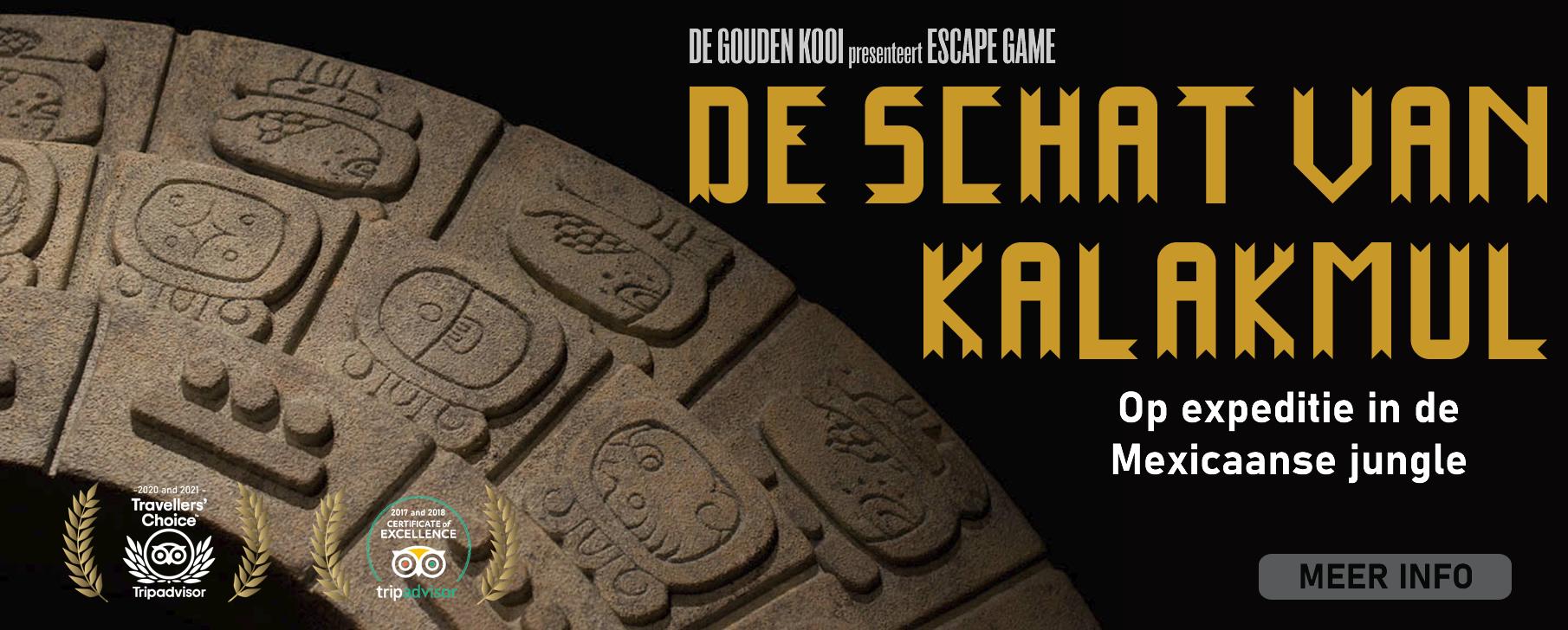 Escape game De Gouden Kooi - De schat van Kalakmul